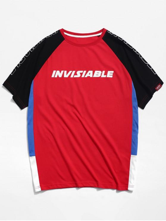 Camiseta de manga raglán colorblock - Rojo S