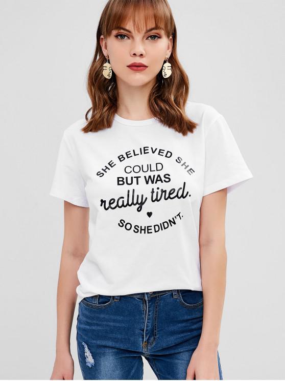 T-shirt graphique à manches courtes - Blanc XL
