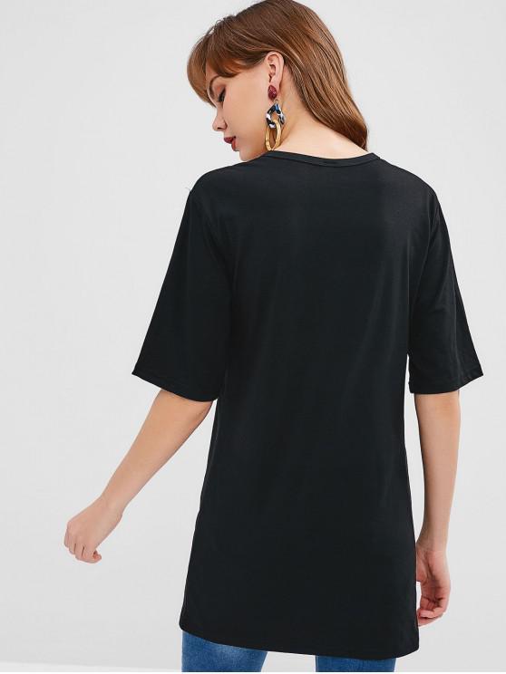 shirt Tunique CaféNoir Graphique M T 7gyfb6Y
