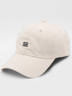 Solid Simple Style Baseball Hat - Beige