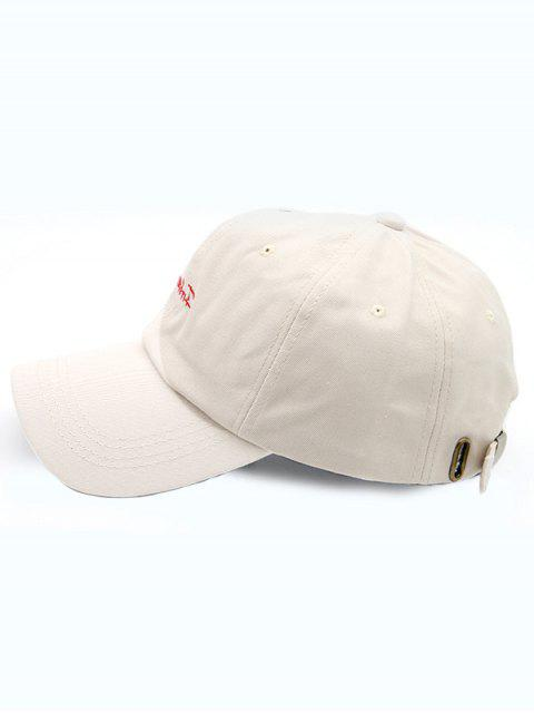 Bonnet de Baseball Lettre Forever Brodé - Beige  Mobile
