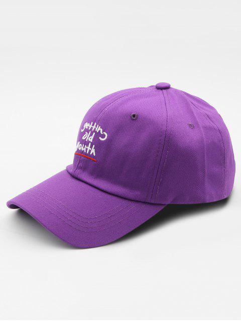 unique Cotton Embroidered Pattern Baseball Hat - PURPLE  Mobile