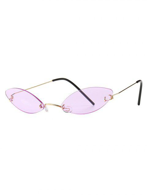 sale Modern Style Narrow Lens Sunglasses - PINK  Mobile
