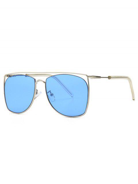 outfits Square Metal Frame Sunglasses - SKY BLUE  Mobile