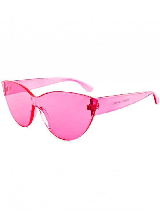 affordable Kitty Eye Jelly Color Frameless Beach Sunglasses - PINK
