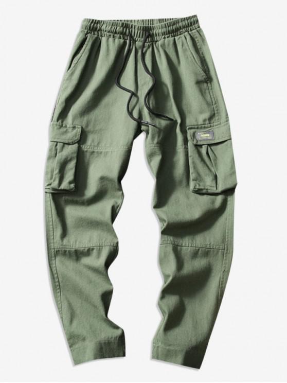 shop Casual Hem Velcro Cargo Pants - ARMY GREEN S