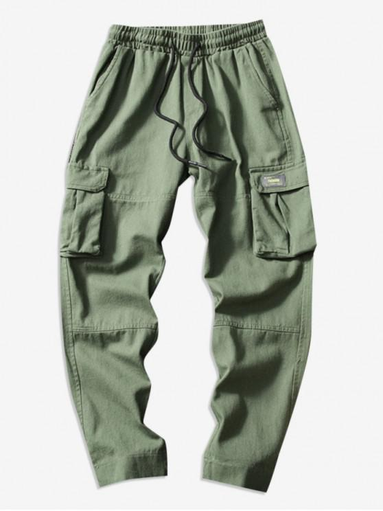 shops Casual Hem Velcro Cargo Pants - ARMY GREEN M