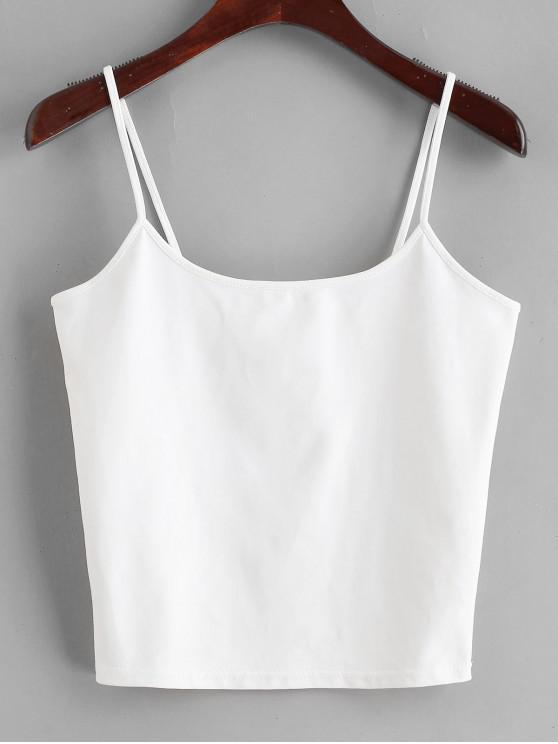 sale Semi Cropped Cami Top - WHITE M