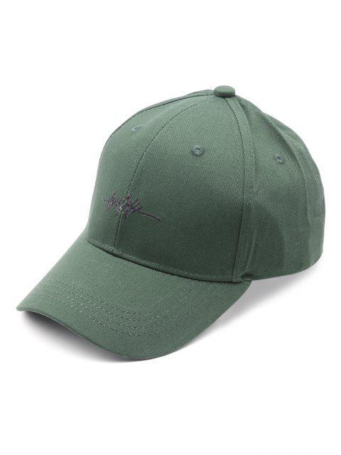 buy Embroidered ECG Pattern Baseball Hat - DEEP GREEN  Mobile