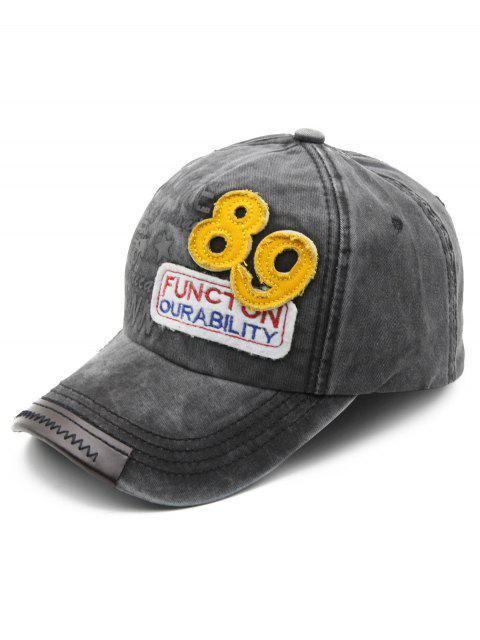 women Figure Embroidered Cotton Baseball Cap - BLACK  Mobile