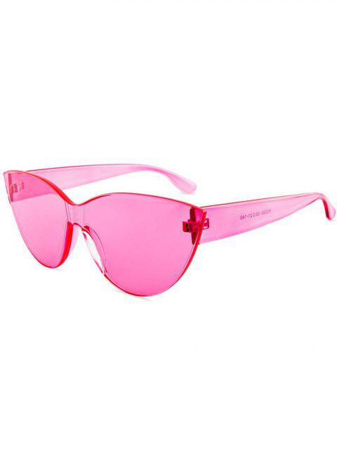 affordable Kitty Eye Jelly Color Frameless Beach Sunglasses - PINK  Mobile