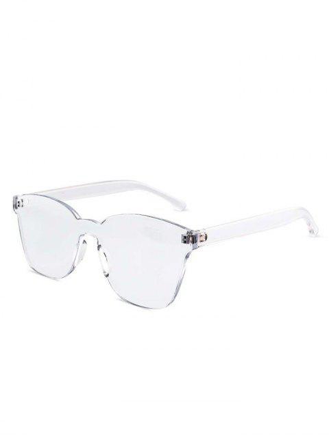 fashion Candy Color Anti UV Square Rimless Sunglasses - TRANSPARENT  Mobile