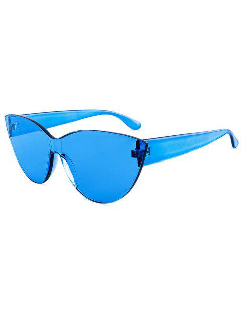 affordable Kitty Eye Jelly Color Frameless Beach Sunglasses - BLUE  Mobile
