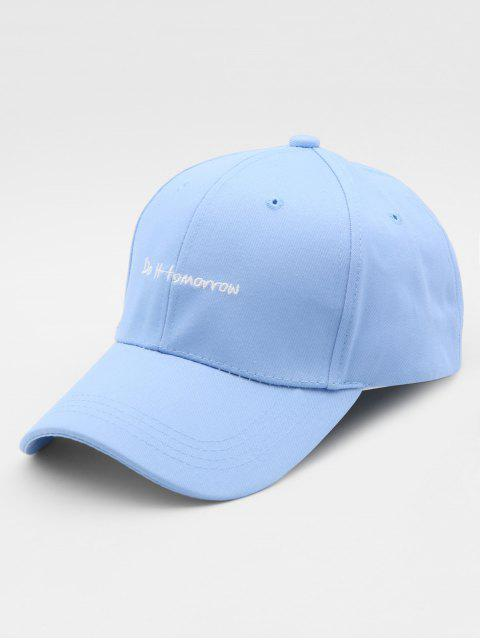 womens Embroidered Letter Pendant Sports Hip Hop Cap - AZURE  Mobile