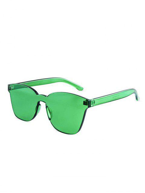 fashion Candy Color Anti UV Square Rimless Sunglasses - GREEN  Mobile