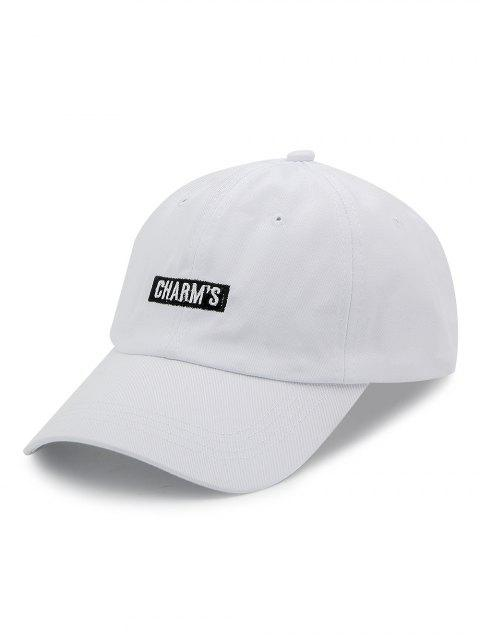 sale Cotton Adjustable Unisex Embroidery Letters Baseball Cap - WHITE  Mobile