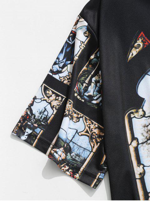 Camiseta de manga corta con estampado de guerrero - Multicolor XL Mobile