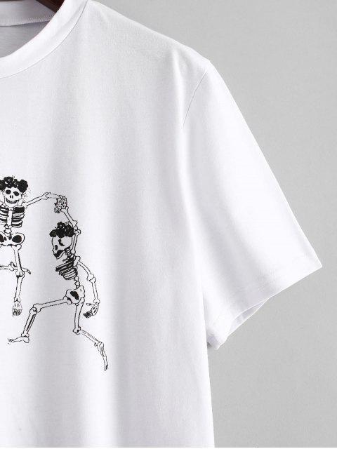 shops ZAFUL Skeleton Graphic Tee - WHITE L Mobile