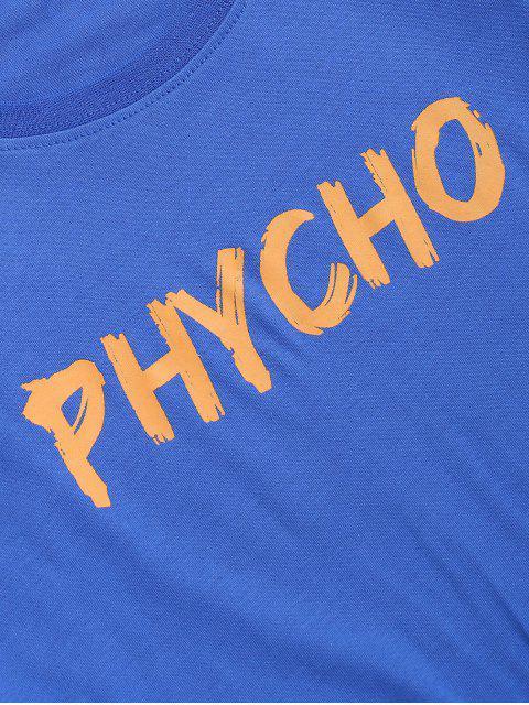 Camiseta Redonda Gráfica Estampada - Azul 2XL Mobile