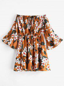 التعادل الأزهار قبالة الكتف اللباس - نحلة صفراء Xl