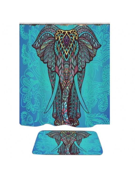 Bohemian Elephant Shower Curtain And Rug