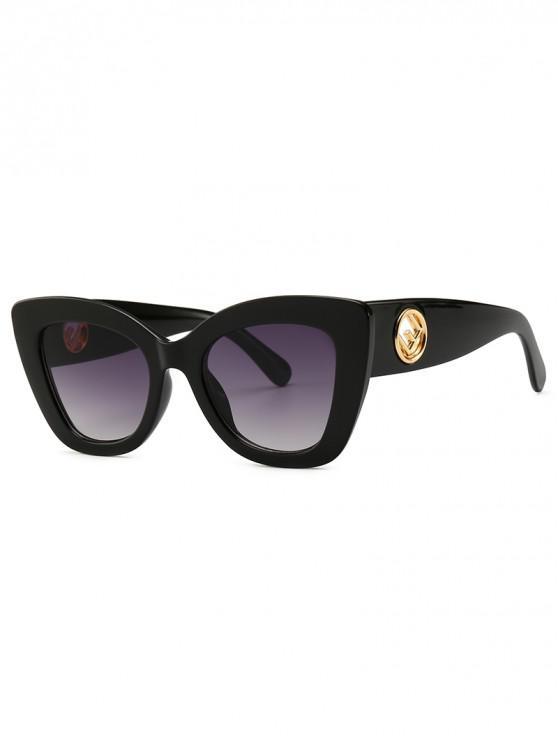 Cat Eye Shape Street Shooting Sunglasses - Negro