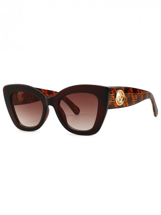 Cat Eye Shape Street Shooting Sunglasses - Café