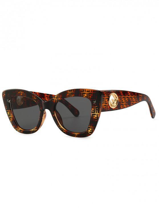 Cat Eye Shape Street Shooting Sunglasses - Marrone Scuro