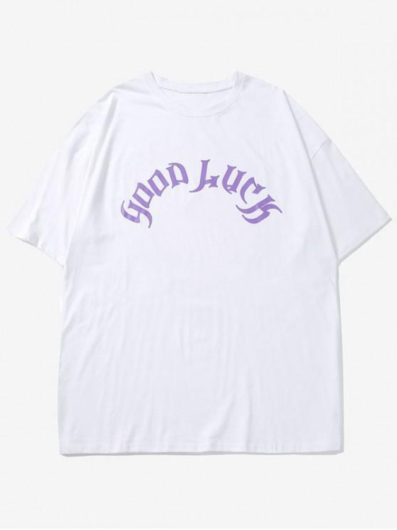 T-Shirt Grafica In Cotone - Bianca M