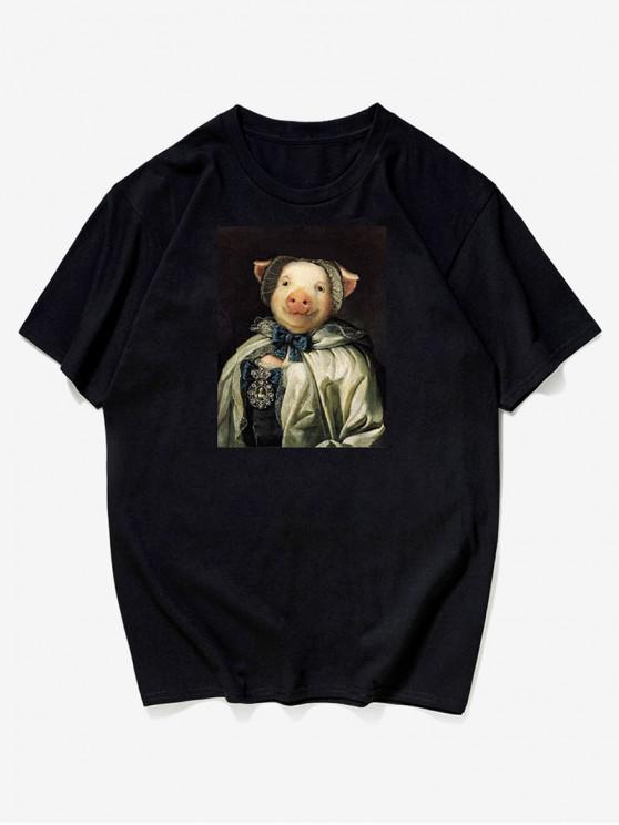 T-Shirt Con Stampa Fotografica - Nero L