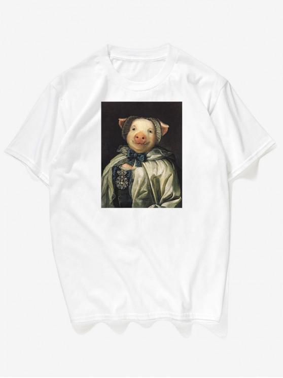 T-Shirt Con Stampa Fotografica - Bianca 3XL