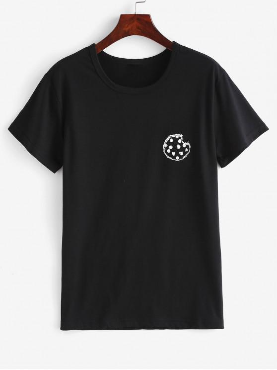 womens Graphic Short Sleeve Tee - BLACK M