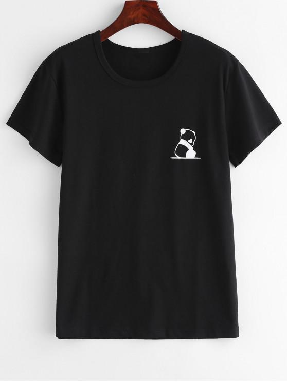 new Bear Graphic Tee - BLACK L