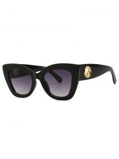 Cat Eye Shape Street Shooting Sunglasses - Black