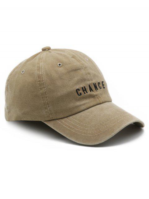 shop Letters Print Baseball Hat - CAMEL BROWN  Mobile