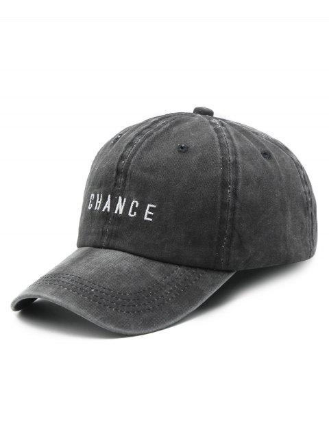 fashion Letters Print Baseball Hat - BLACK  Mobile