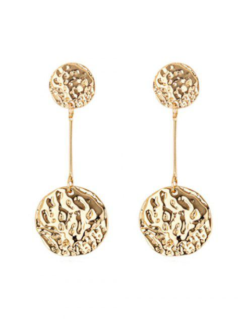 outfit Geometric Round Uneven Stud Drop Earrings - GOLD  Mobile