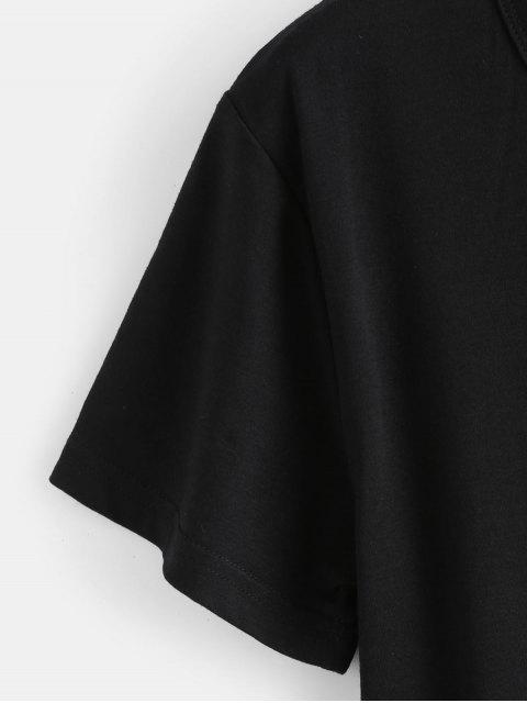 fashion Hamburger Graphic Tee - BLACK L Mobile
