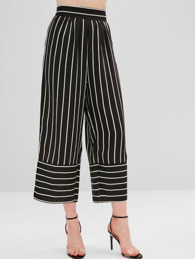 ae1d4ed161e8 High Waist Striped Wide Leg Pants - Black M ...
