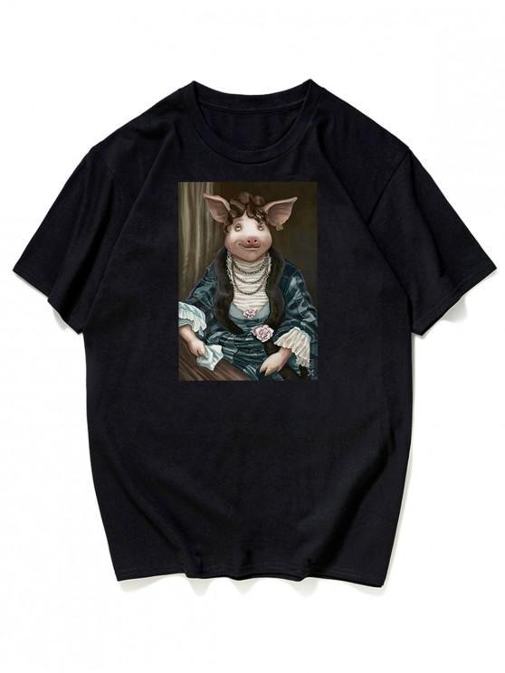 T-Shirt Grafica - Nero L
