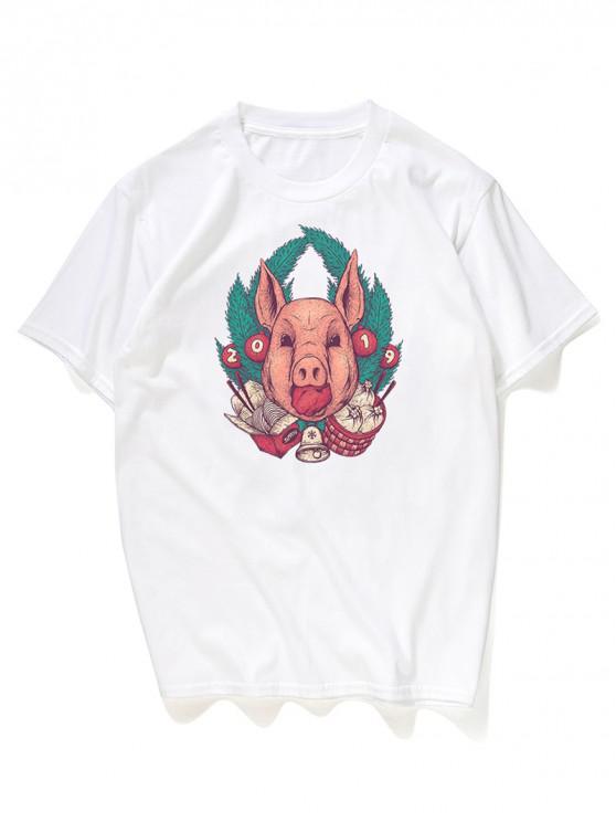 T-Shirt Grafica - Bianco M