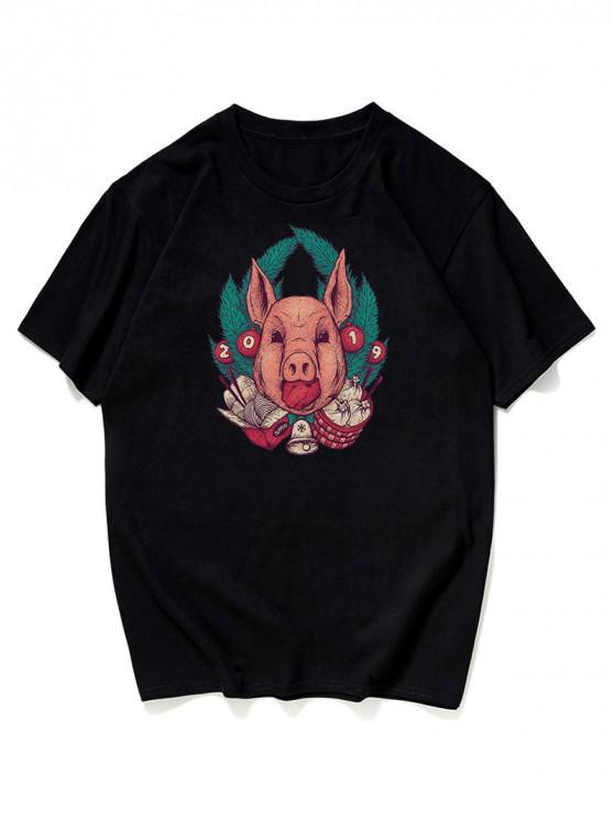 T-Shirt Grafica - Nero 3XL