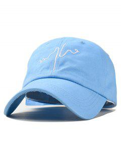 Chic Embroidery Design Baseball Hat - Light Blue