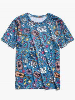 Music Elements Print T-shirt - Multi-k 2xl
