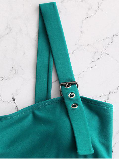 ZAFUL Bañador de pierna alta - Azul Verdoso M Mobile