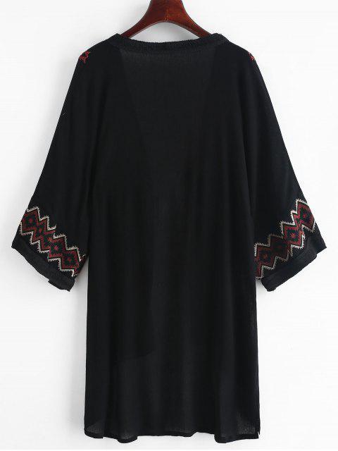 Kimono Couverture Brodé - Noir Taille Unique Mobile