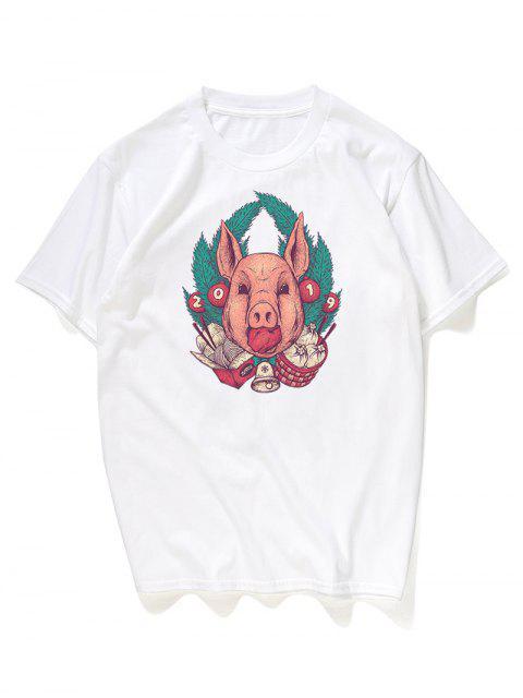 Camiseta gráfica para hombre - Blanco 2XL Mobile