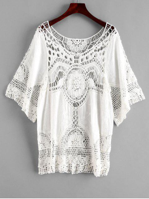 online Crochet Beach Top - WHITE ONE SIZE Mobile