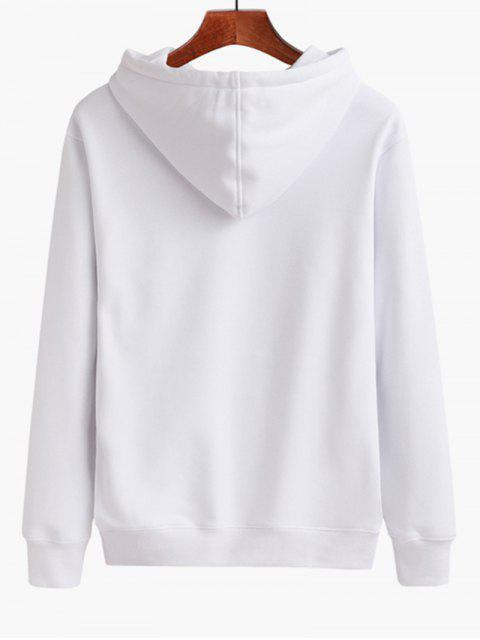 women Casual Letter Hoodie - WHITE M Mobile