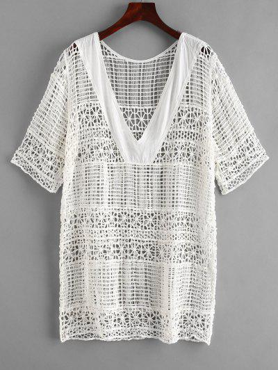 5dc0e636824 2019 White Crochet Dress Sale Online